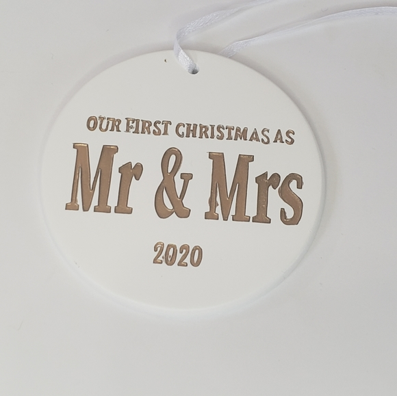 Our First Christmas 2020 Mr. Mrs. Ornament Rustic